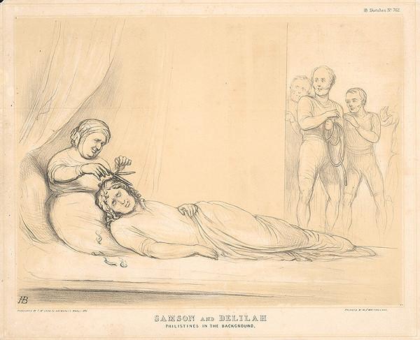 Anglický grafik z polovice 19. storočia – Samson a Dalila