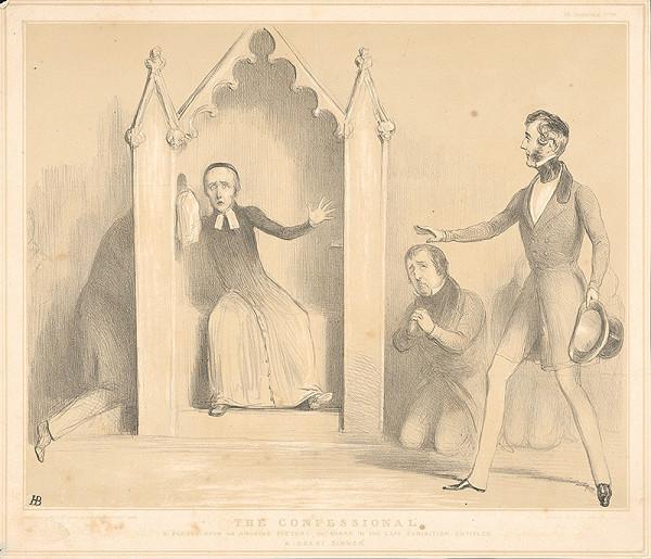 Anglický grafik z polovice 19. storočia - Spoveď