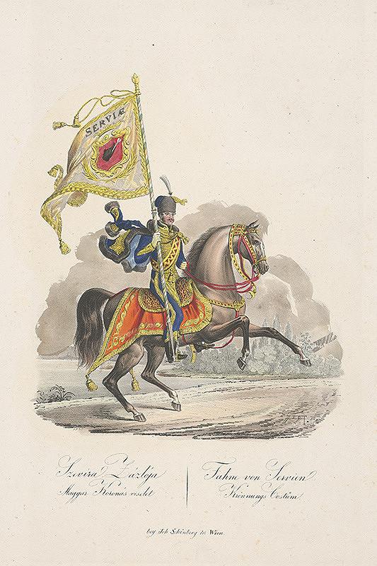 Stredoeurópsky grafik z 19. storočia - Srbský korunovačný kostým