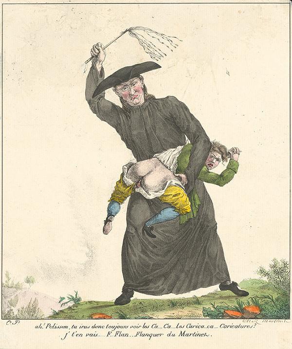 Francúzsky grafik z polovice 19. storočia - Výchovná lekcia