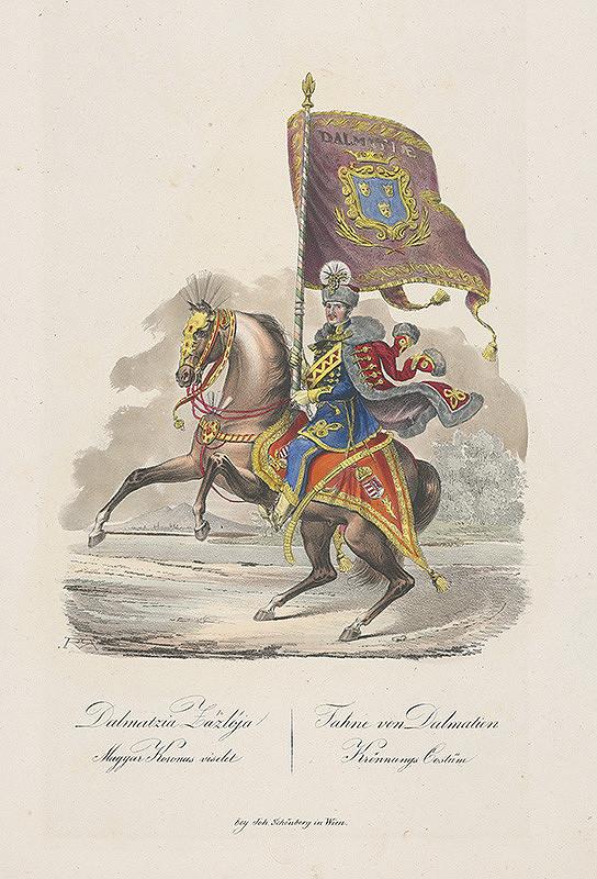 Stredoeurópsky grafik z 19. storočia – Korunovačný kostým z Dalmácie