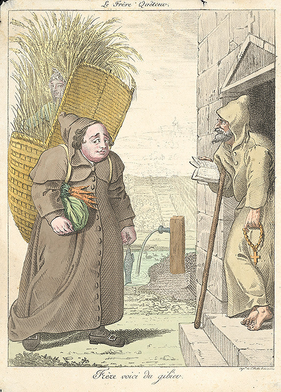 Francúzsky grafik z polovice 19. storočia – Donesenie milodarov