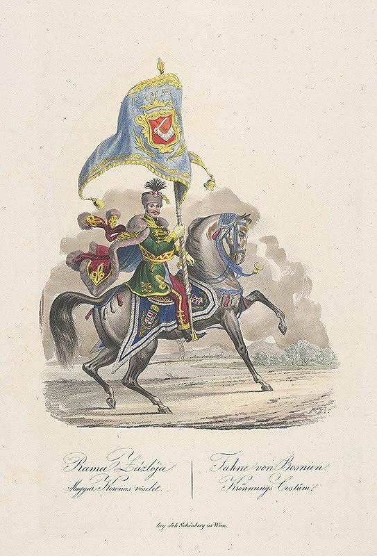 Stredoeurópsky grafik z 19. storočia - Korunovačný kostým z Bosny