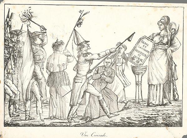 Francúzsky grafik z polovice 19. storočia - Krížová výprava