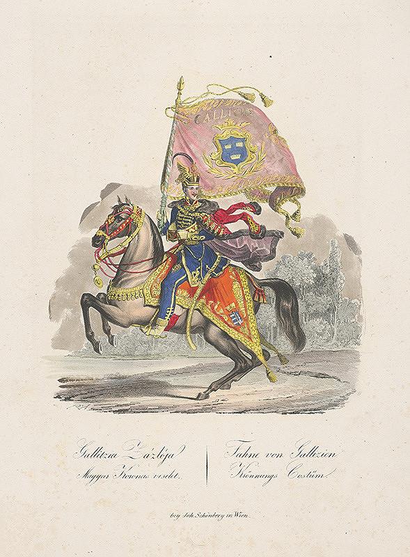 Stredoeurópsky grafik z 19. storočia - Korunovačný kostým z Galície