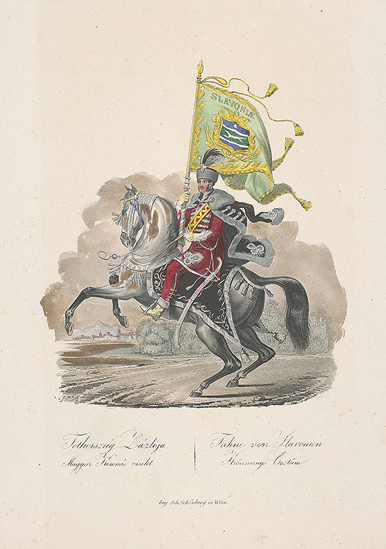 Stredoeurópsky grafik z 19. storočia - Korunovačný kostým zo Slavonie