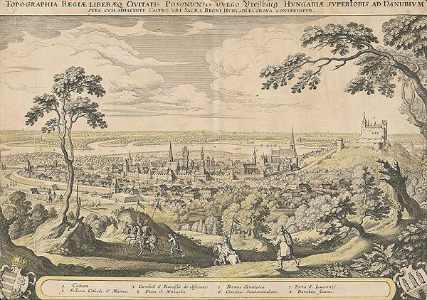 Matthäus Merian – Pohľad na Bratislavu zo severozápadu