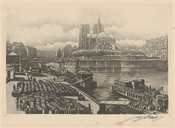Francúzsky grafik z 20. storočia - Paríž, Notre Dame