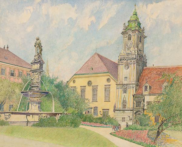 Slovenský grafik z 20. storočia – Námestie 4.apríla v Bratislave