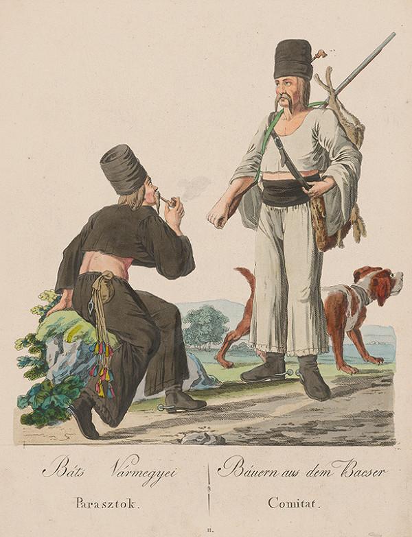 Stredoeurópsky grafik z 19. storočia - Sedliaci z Báčky