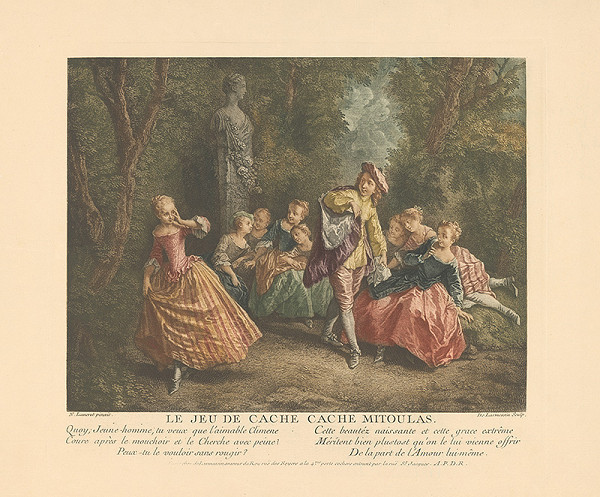 Nicolas de Larmessin, N. Lancret - Žánrový výjav