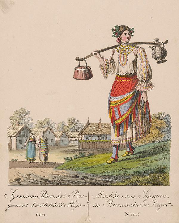 Stredoeurópsky grafik z 19. storočia - Dievča zo Syrmiumi