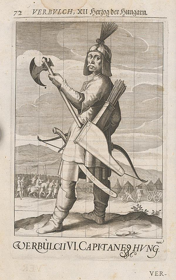 Stredoeurópsky grafik zo 17. storočia – Verbvlch, XII Herzog der Hungarn