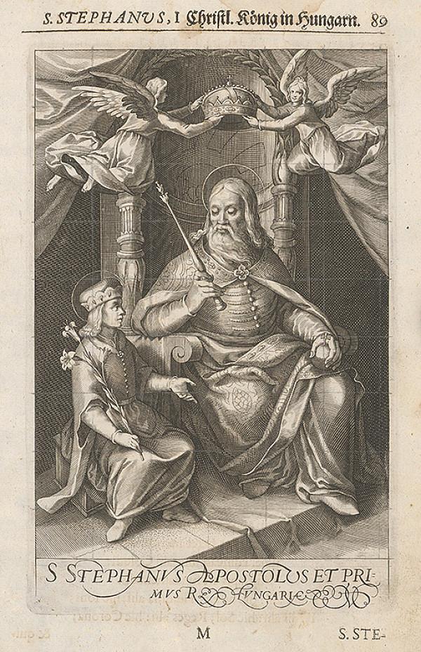 Stredoeurópsky grafik zo 17. storočia – Štefan I. prvý uhorský kráľ