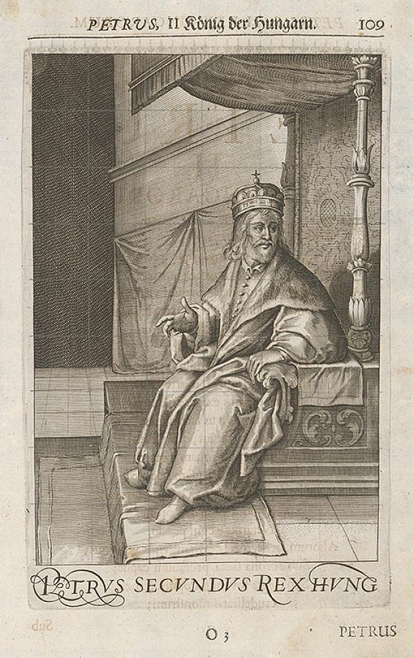 Stredoeurópsky grafik zo 17. storočia - Uhorský kráľ Peter Orseolo