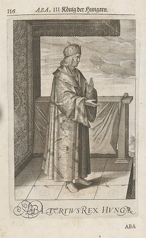 Stredoeurópsky grafik zo 17. storočia – Uhorský kráľ Samuel Aba