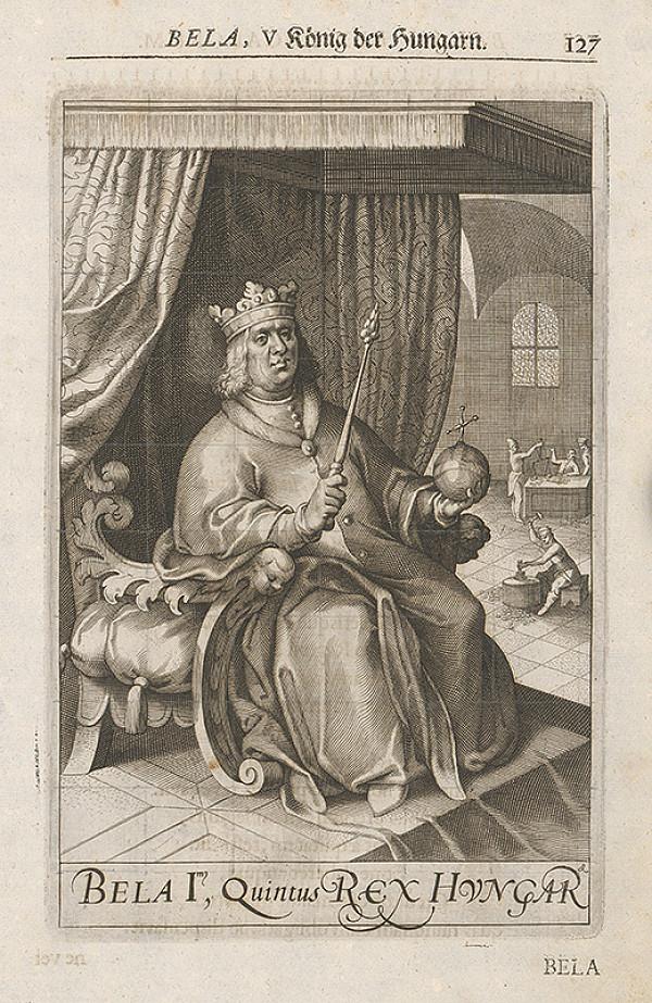 Stredoeurópsky grafik zo 17. storočia – Portrét Bela, V. König der Hungarn