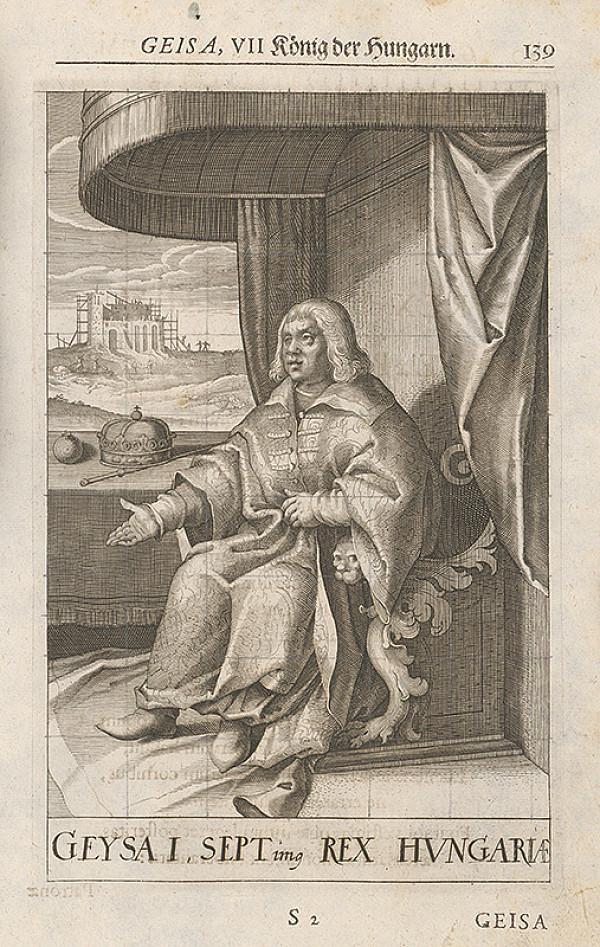 Stredoeurópsky grafik zo 17. storočia - Portrét Geisa, VII König der Hungarn