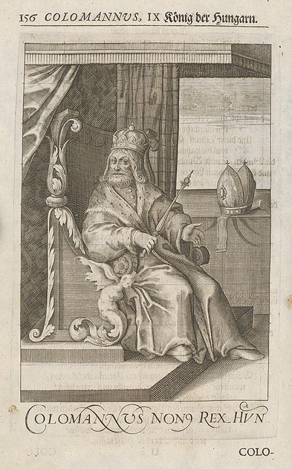 Stredoeurópsky grafik zo 17. storočia – Colomannus, IX König der Hungarn