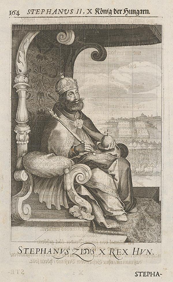 Stredoeurópsky grafik zo 17. storočia – Stephanus II, X König der Hungarn