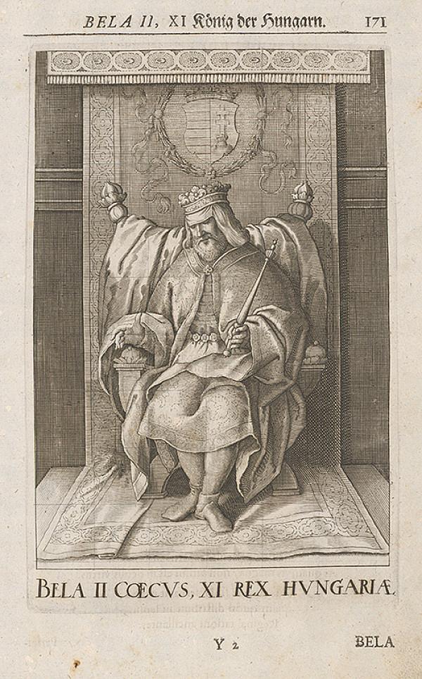 Stredoeurópsky grafik zo 17. storočia – Bela II. XI König der Hungarn