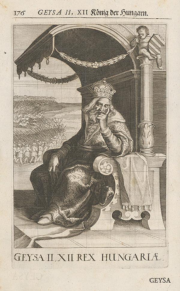 Stredoeurópsky grafik zo 17. storočia – Geysa II, XII König der Hungarn