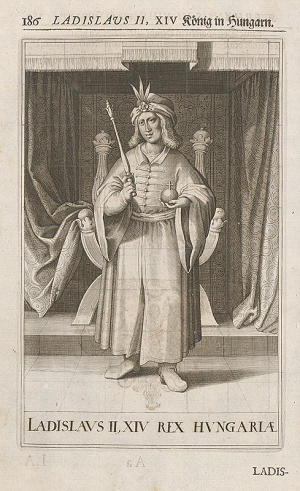 Stredoeurópsky grafik zo 17. storočia – Portrét Ladislava II. Uhorského