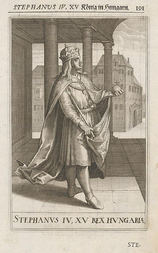 Stredoeurópsky grafik zo 17. storočia – Stephanus IV, XV König in Hungarn