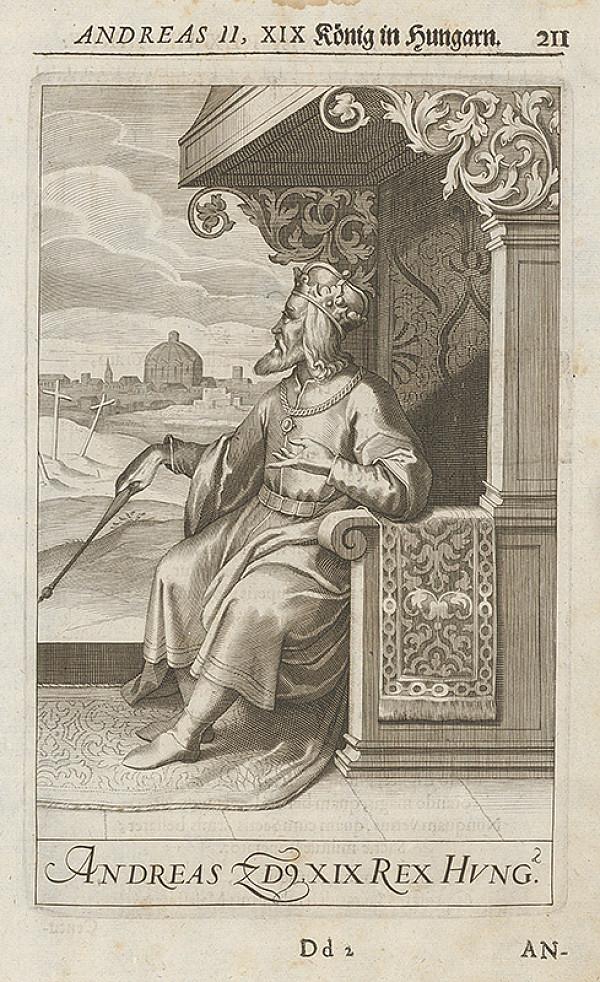 Stredoeurópsky grafik zo 17. storočia – Andreas II. XIX König in Hungarn
