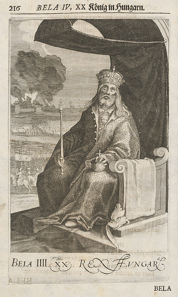 Stredoeurópsky grafik zo 17. storočia – Bela IV. XX König in Hungarn