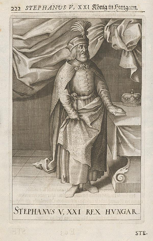 Stredoeurópsky grafik zo 17. storočia – Stephanus V, XXI König in Hungarn