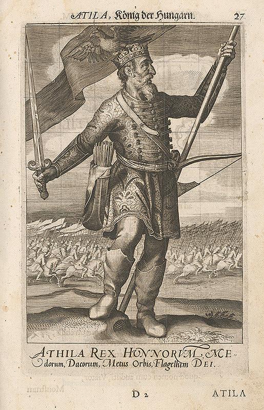 Stredoeurópsky grafik zo 17. storočia – Hunský kráľ Atila