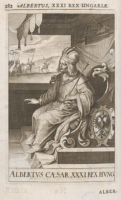 Stredoeurópsky grafik zo 17. storočia - Kráľ Albrecht II. (V.)