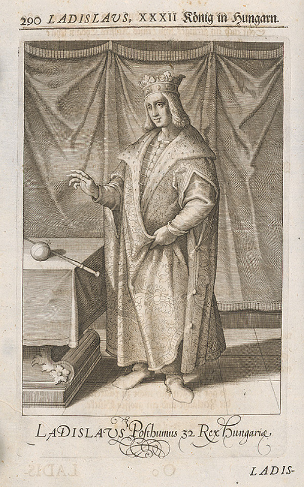 Stredoeurópsky grafik zo 17. storočia – Portrét Ladislava Pohrobka Habsburského