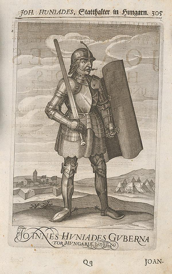 Stredoeurópsky grafik zo 17. storočia – Joh. Huniades, Stadthaltr in Hungarn