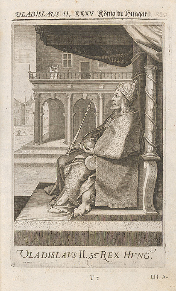 Stredoeurópsky grafik zo 17. storočia – Portrét Vladislava II. Jagelovského