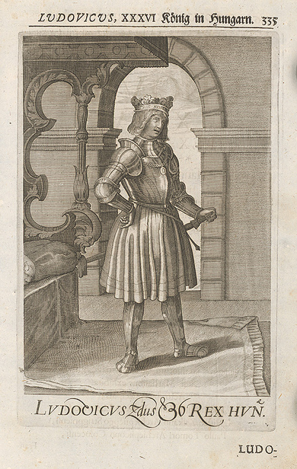 Stredoeurópsky grafik zo 17. storočia – Ludovicus, XXXVI König in Hungarn