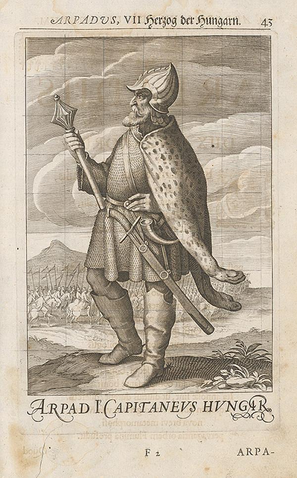 Stredoeurópsky grafik zo 17. storočia - Uhorský vládca Arpád