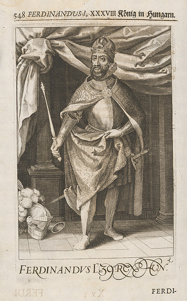 Stredoeurópsky grafik zo 17. storočia - Portrét Ferdinanda I. Habsburského