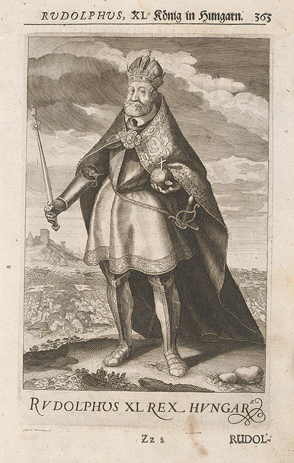Stredoeurópsky grafik zo 17. storočia - Uhorský kráľ Rudolf II. Habsburský