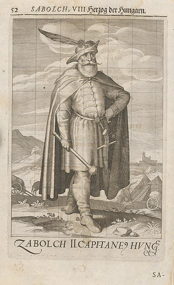 Stredoeurópsky grafik zo 17. storočia – Uhorský vládca Sabolč