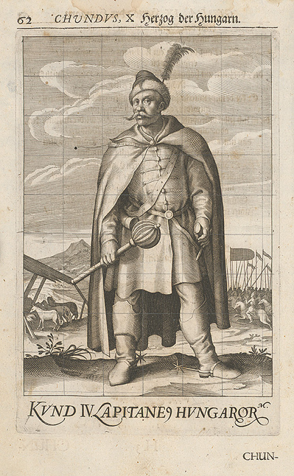 Stredoeurópsky grafik zo 17. storočia – Chundus, X Herzog der Hungarn