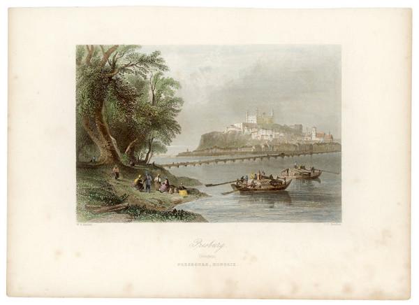 William Henry Bartlett, Joseph Clayton Bentley – Pohľad na Bratislavu z juhu
