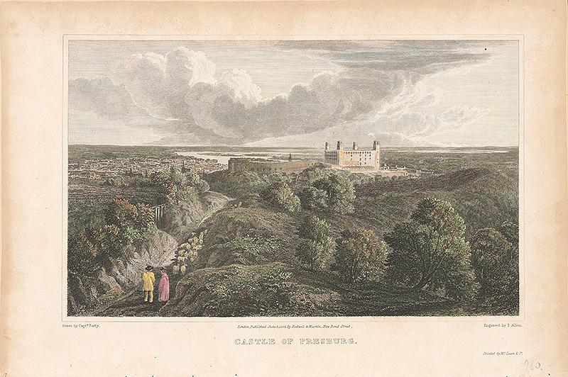 Robert Batty, John Allen – Pohľad na Bratislavu zo severu, 1822, Galéria mesta Bratislavy