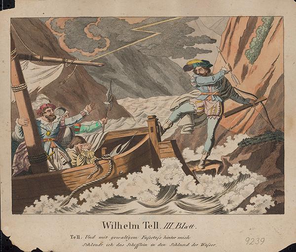 Stredoeurópsky grafik z 1. polovice 19. storočia - Scéna z Wilhelma Tella