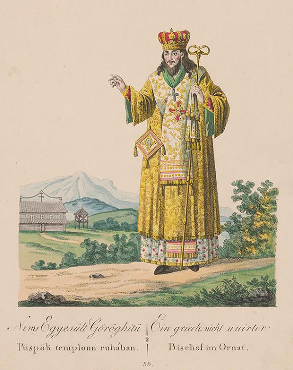 Stredoeurópsky grafik z 19. storočia – Biskup v omšovom rúchu