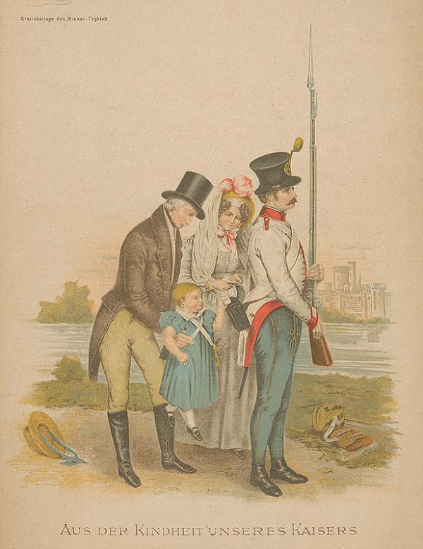 Stredoeurópsky grafik z 19. storočia - Detstvo nášho cisára Františka Jozefa I.