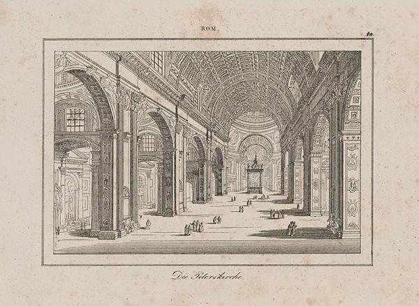 Taliansky autor z 2. polovice 19. storočia – Chrám sv. Petra v Ríme