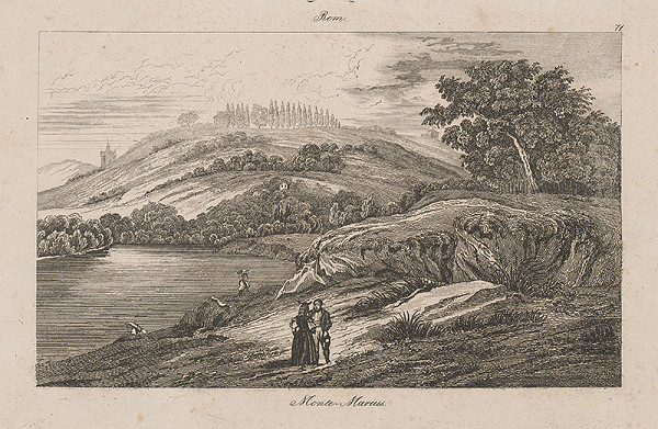 Taliansky autor z 2. polovice 19. storočia – Vrch Marius