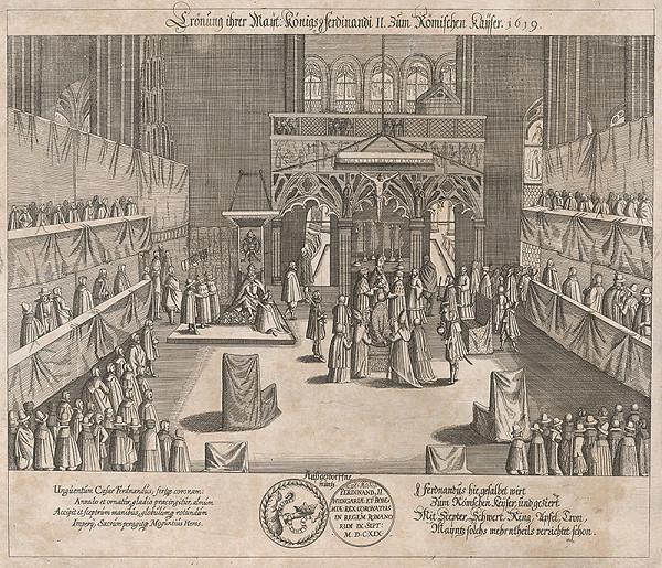 Nemecký autor z 1. polovice 17. storočia – Korunovácia Ferdinanda II. za rímsko-nem. cisára v r. 1619